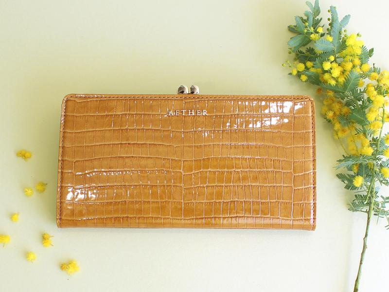 ミモザ色の財布