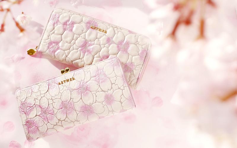 桜柄の財布