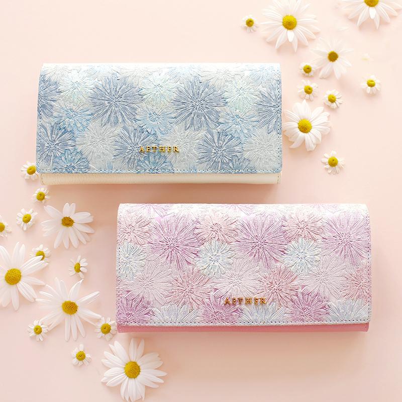 エーテルの花柄の財布